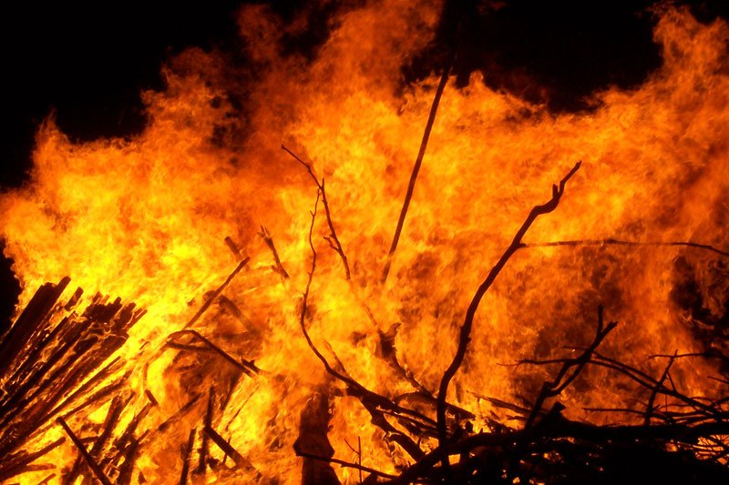 Large bonfire